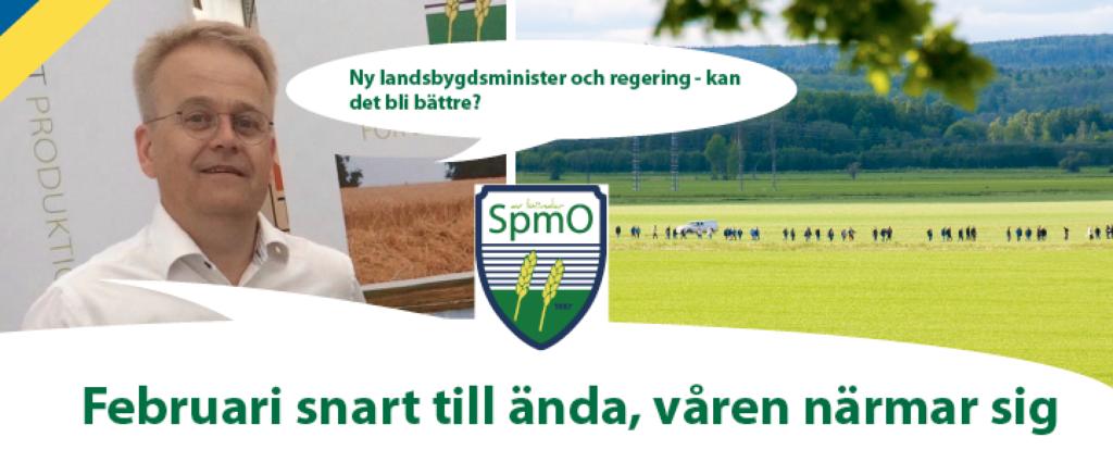 Ny landsbygdsminister och regering - kan det bli bättre? Johan Karlzén SpmO